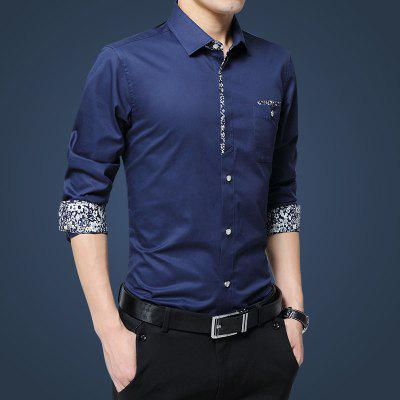 MenS Floral Decoration ShirtMens Shirts<br>MenS Floral Decoration Shirt<br><br>Collar: Turn-down Collar<br>Material: Cotton<br>Package Contents: 1 x Shirt<br>Shirts Type: Casual Shirts<br>Sleeve Length: Full<br>Weight: 0.2500kg
