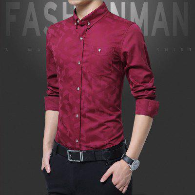 Man Size Long Sleeved Geometric Printing ShirtPlus Size Tops<br>Man Size Long Sleeved Geometric Printing Shirt<br><br>Collar: Turn-down Collar<br>Material: Cotton<br>Package Contents: 1 x Shirt<br>Shirts Type: Casual Shirts<br>Sleeve Length: Full<br>Weight: 0.2500kg
