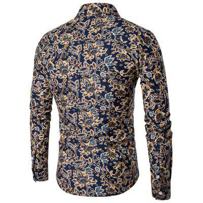 Male Personality Stamp ShirtMens Shirts<br>Male Personality Stamp Shirt<br><br>Collar: Turn-down Collar<br>Material: Polyester<br>Package Contents: 1 x Shirt<br>Shirts Type: Casual Shirts<br>Sleeve Length: Full<br>Weight: 0.2200kg