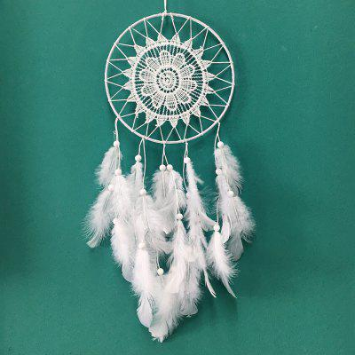 2017 Hot Sale White Dreamcatcher Wind Chimes Indian Style Feather Pendant Dream Catcher Gift