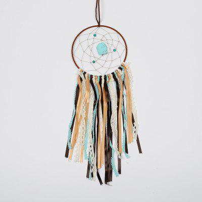 Vintage Enchanted Forest Indian Turquoise Dreamcatcher Handmade Dream Catcher Net With Feathers Decoration Ornament