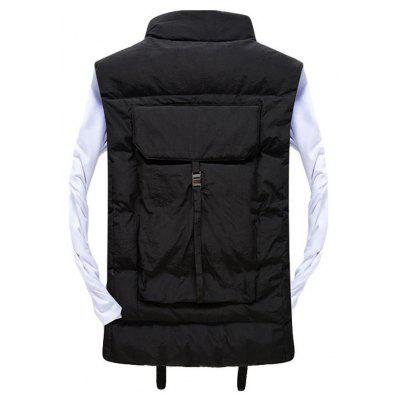 Mens Vest Jacket High Quality Solid Color Zipper JacketMens Jackets &amp; Coats<br>Mens Vest Jacket High Quality Solid Color Zipper Jacket<br><br>Clothes Type: Jackets<br>Collar: Stand Collar<br>Material: Cotton, Acetate<br>Package Contents: 1 xCotton vest<br>Season: Spring, Fall, Winter<br>Shirt Length: Regular<br>Sleeve Length: Sleeveless<br>Style: Casual<br>Weight: 0.5000kg