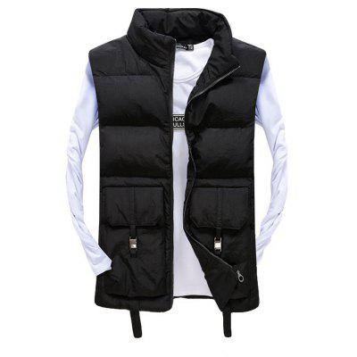 Men's Vest Jacket High Quality Solid Color Zipper Jacket