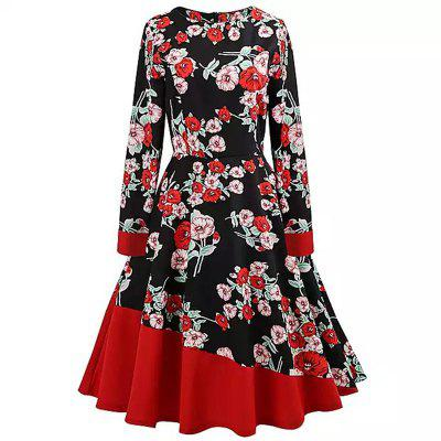 2018 New Antique Long Sleeved Dress