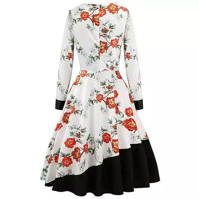 2018 New White Stamp Splicing and Retro DressWomens Dresses<br>2018 New White Stamp Splicing and Retro Dress<br><br>Dresses Length: Mid-Calf<br>Elasticity: Micro-elastic<br>Embellishment: Vintage<br>Fabric Type: Broadcloth<br>Material: Cotton<br>Neckline: Round Collar<br>Package Contents: 1 x Dress<br>Pattern Type: Print<br>Season: Spring, Winter, Fall, Summer<br>Silhouette: Ball Gown<br>Sleeve Length: Long Sleeves<br>Sleeve Type: One-Shoulder<br>Style: Vintage<br>Waist: Natural<br>Weight: 0.5000kg<br>With Belt: No