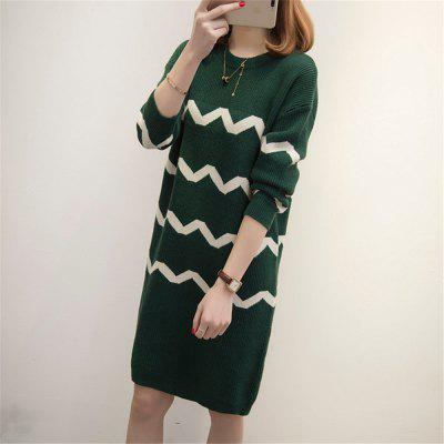 Bigger Sizes Plus Size WomenS Clothing Stripe Long SweaterSweater Dresses<br>Bigger Sizes Plus Size WomenS Clothing Stripe Long Sweater<br><br>Dresses Length: Knee-Length<br>Elasticity: Super-elastic<br>Fabric Type: Jersey<br>Material: Acrylic<br>Neckline: Round Collar<br>Package Contents: 1xSweater<br>Pattern Type: Striped<br>Season: Summer, Winter, Spring, Fall<br>Silhouette: Straight<br>Sleeve Length: Long Sleeves<br>Style: Casual<br>Weight: 0.8200kg<br>With Belt: No