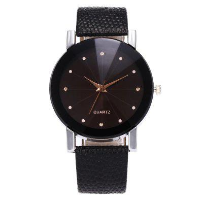 ZhouLianFa Famous Brand Black Leather Classic Color A Pair Couple Watch Women Men Fashion Clock1