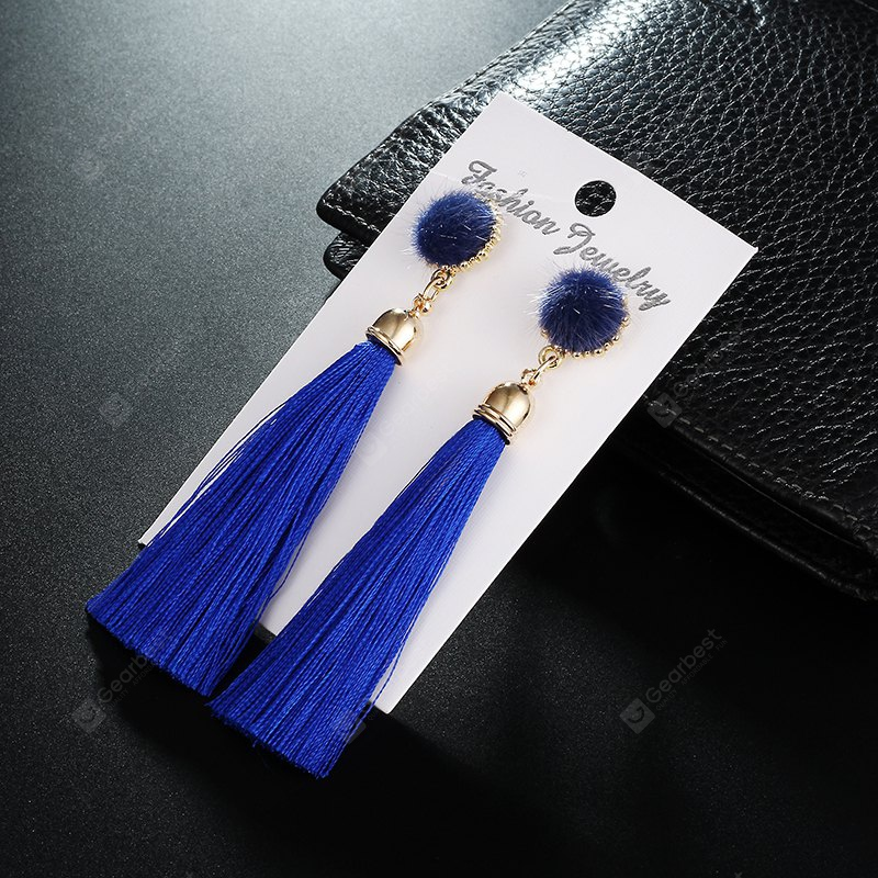 FashionClassic Romantic Statement Round Long Tassel Drop Earrings for Women