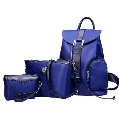 Three Pieces of Simple Handbags Double Pocket BagBackpacks<br>Three Pieces of Simple Handbags Double Pocket Bag<br><br>For: Traveling<br>Material: Nylon<br>Package Contents: 1 x backpack, 1 x shoulder bag, 1 x clutch<br>Package size (L x W x H): 27.00 x 16.00 x 33.00 cm / 10.63 x 6.3 x 12.99 inches<br>Package weight: 0.6000 kg<br>Product size (L x W x H): 26.00 x 15.00 x 32.00 cm / 10.24 x 5.91 x 12.6 inches<br>Product weight: 0.5000 kg<br>Type: Backpack