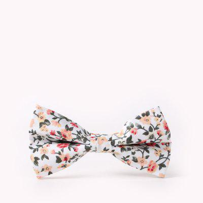 Men'S Casual Cotton Print Floral Bow Tie