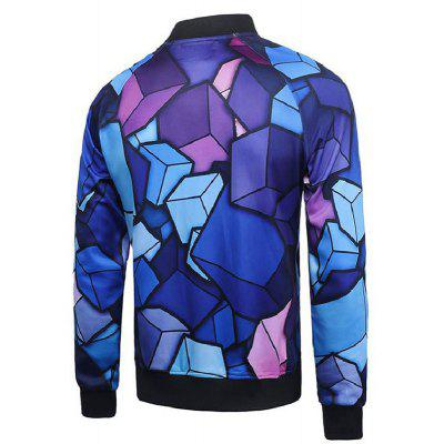 Plus Size Fashion and Leisure 3D Digital Geometric Printing Personality Trend Baseball JacketPlus Size Outerwear<br>Plus Size Fashion and Leisure 3D Digital Geometric Printing Personality Trend Baseball Jacket<br><br>Clothes Type: Jackets<br>Collar: Stand Collar<br>Crafts: Printing<br>Material: Polyester<br>Occasion: Going Out, Daily Use, Holiday, Party<br>Package Contents: 1xJacket<br>Season: Spring, Fall<br>Shirt Length: Regular<br>Sleeve Length: Long Sleeves<br>Style: Fashion<br>Weight: 0.4000kg