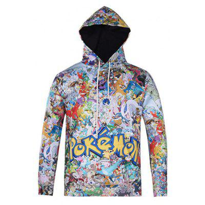 Stylish Hip Hop Casual Jacket Floral Personality Trend Couple Hoodies