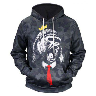 Plus Size Fashion Casual Pullover  Character Trend 3D Printed  Hoodie