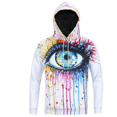 Fashion Casual Men's Fashion Trend 3D Printed Lovers Loose Hoodie