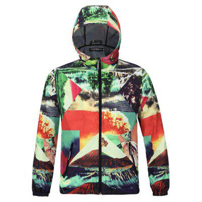 Fashion Casual Men's Fashion Trend 3D Printing Outdoor Sports Baggy Hooded Jacket Plus Size