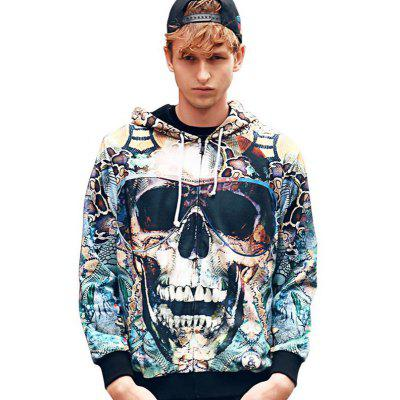 Fashion Casual Personality Trend 3D Printed Loose  Hoodie