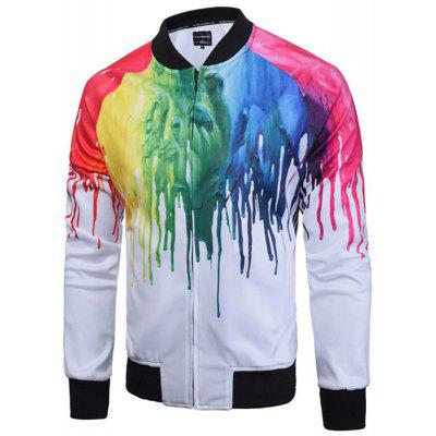 Fashion Men's Casual Fashion Trend 3D Printed Loose Jacket Baseball Jacket