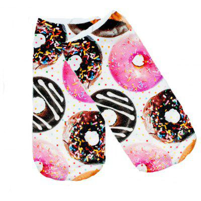 Buy COLORFUL Donuts Graphic 3D Full Printing Women Low Cut Ankle Sock Lovely Multiple Colors Hosiery Socks for $8.32 in GearBest store