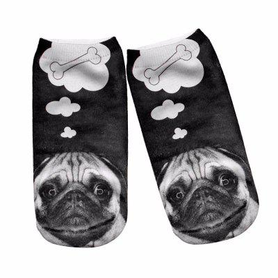 3D Lovely Dog Pugs Printed Sock WoMen New Unisex Cute Low Cut Ankle Sock S008Socks &amp; Tights<br>3D Lovely Dog Pugs Printed Sock WoMen New Unisex Cute Low Cut Ankle Sock S008<br><br>Contents: 1 x Pair of Socks<br>Gender: Women<br>Material: Cotton, Polyester<br>Package size (L x W x H): 1.00 x 1.00 x 1.00 cm / 0.39 x 0.39 x 0.39 inches<br>Package weight: 0.0500 kg<br>Style: Fashion<br>Type: Socks