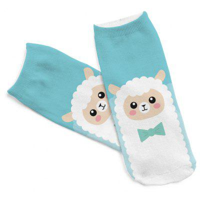 3D Sheep Printing WomenS Funny Anklet Socks S015Socks &amp; Tights<br>3D Sheep Printing WomenS Funny Anklet Socks S015<br><br>Contents: 1 x Pair of Socks<br>Gender: Women<br>Material: Cotton, Polyester<br>Package size (L x W x H): 1.00 x 1.00 x 1.00 cm / 0.39 x 0.39 x 0.39 inches<br>Package weight: 0.5000 kg<br>Style: Fashion<br>Type: Socks
