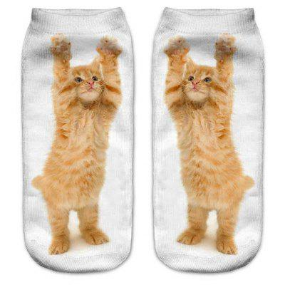 Buy MIXCOLOR 3D Printed Small Cat Women'S Unisex Low Cut Ankle Socks S016 for $7.87 in GearBest store