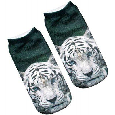 3D Tiger Printed WomenS Unisex Low Cut Ankle SocksSocks &amp; Tights<br>3D Tiger Printed WomenS Unisex Low Cut Ankle Socks<br><br>Contents: 1 x Pair of Socks<br>Gender: Women<br>Material: Cotton, Polyester<br>Package size (L x W x H): 1.00 x 1.00 x 1.00 cm / 0.39 x 0.39 x 0.39 inches<br>Package weight: 0.0500 kg<br>Style: Fashion<br>Type: Socks