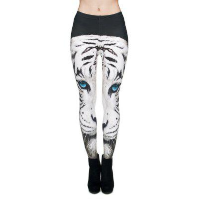 High Quality White Tiger 3D Printing Casual Pants Womens Leggings Yoga Pants