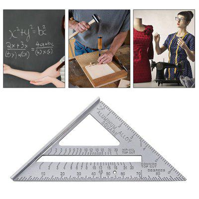 7inch Alloy Speed Square Protractor Miter Framing Measurement Ruler For Carpenter