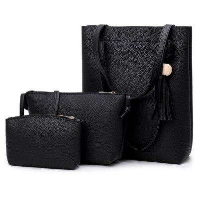 The Female Bag of The New Fashion Tassel Bag Three-Piece Bill of Lading Shoulder Bill Shoulder Cross-Bag