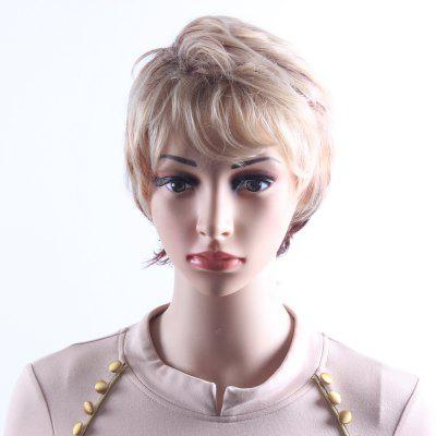 Mixcolor Blonde Brown Short Wavy Wigs for Women Heat Resistant Synthetic Hair Wigs  SW0113