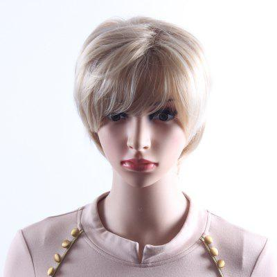 Mixcolor Blonde Short Wavy Wigs For Women Heat Resistant Synthetic Hair Wigs SW0081