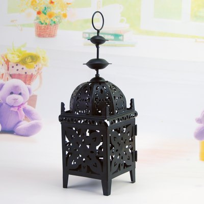 Flower horse time european-style iron candelabra wind lamp Moroccan castle style cafe house home decoration candle lamp