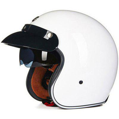 2017 New TORC T57 Vintage Helmet 3/4 Open Face Crusie Scooter Motorcycle Helmet with Inner Black Lens Helmets