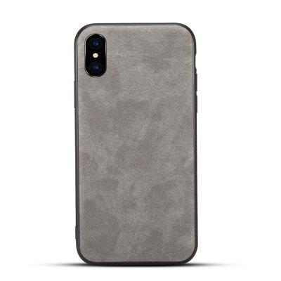 For iPhone X Retro Leather Phone Protector Sleeve
