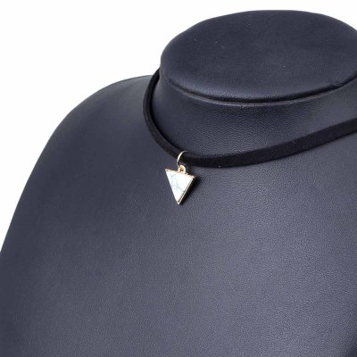 Black Velvet Necklace Pendant Triangle Choker Necklace Collar Necklaces for Women Jewelry