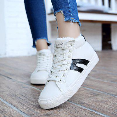 The New Student All-Match Leather ShoesWomens Sneakers<br>The New Student All-Match Leather Shoes<br><br>Available Size: 35-39<br>Closure Type: Lace-Up<br>Feature: Breathable<br>Gender: For Women<br>Outsole Material: Rubber<br>Package Contents: 1 x shoes(pair)<br>Package size (L x W x H): 30.50 x 18.00 x 10.00 cm / 12.01 x 7.09 x 3.94 inches<br>Package weight: 0.8000 kg<br>Pattern Type: Others<br>Season: Winter<br>Upper Material: Leather