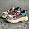New Winter Lady'S Leisure Sand Grinding Sneakers - RED-GRAY