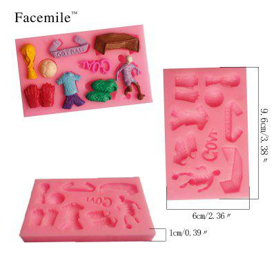 Football Sport Series Fondant 3D Molds Silicone Soap Candle Moulds Sugar Craft Tools Chocolate Moulds Bakewear