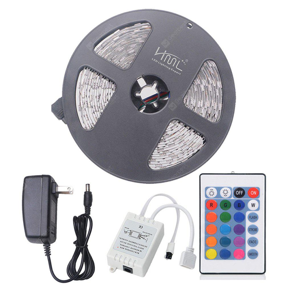 HML 5M 72W 5050 RGB LED Strip Light with 24 Keys Remote Control And US Adapter