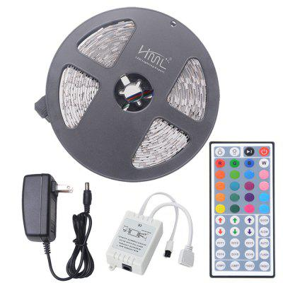 HML 5M 72W 5050 RGB LED Strip Light with 44 Keys Remote Control And US Adapter