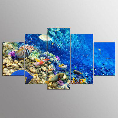 Buy YSDAFEN 5 Panel Hd Fish Living in The Ocean Canvas Art Wall for Living Room Wall Picture, COLORMIX, Home & Garden, Home Decors, Wall Art, Prints for $29.15 in GearBest store
