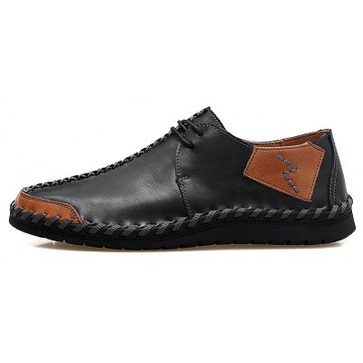 Big Yards Pure Manual Cowhide Sewing ShoesMen's Oxford<br>Big Yards Pure Manual Cowhide Sewing Shoes<br><br>Available Size: 38.39.40.41.42.43.44.45.46.47<br>Closure Type: Lace-Up<br>Embellishment: None<br>Gender: For Men<br>Insole Material: PU<br>Lining Material: Synthetic<br>Occasion: Casual<br>Outsole Material: Rubber<br>Package Contents: 1 x Shoes(pair)<br>Pattern Type: Patchwork<br>Season: Summer, Spring/Fall<br>Shoe Width: Medium(B/M)<br>Toe Shape: Round Toe<br>Toe Style: Closed Toe<br>Upper Material: Cow Split<br>Weight: 1.3824kg