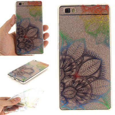 Fantasy Flowers Soft Clear IMD TPU Phone Casing Mobile Smartphone Cover Shell Case para Huawei P8 Lite