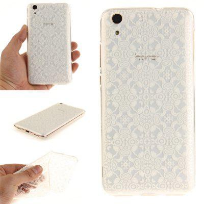 Custodia Cover per Huawei Honor5A Y6II White Lace Soft Clear IMD TPU Custodia per Telefono