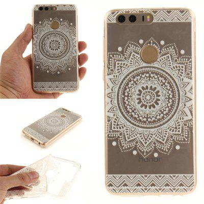 Custodia Cover per Huawei Honor 8 The White Mandala Soft Clear IMD Custodia TPU per smartphone