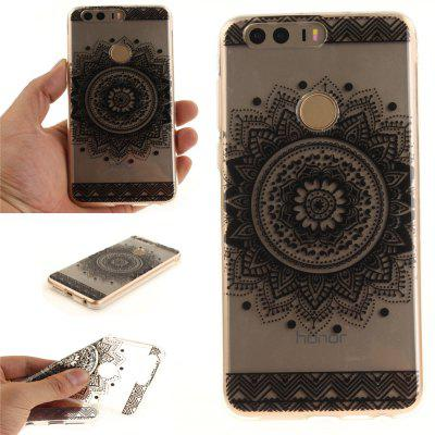 Cover Case per Huawei Honor 8 Nero Datura Soft Clear IMD TPU Phone Caring Mobile Smartphone