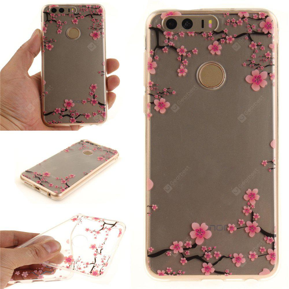 Cover Case per Huawei Honor 8 Su e Giù The Plum Blossom Soft Clear IMD TPU Phone Caring Mobile Smartphone