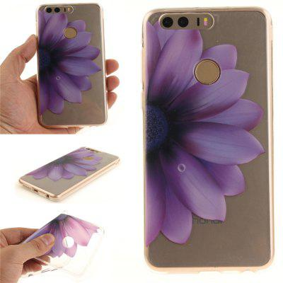 Custodia Cover per Huawei Honor 8 Half The Fiore Soft Clear IMD TPU Phone Caring Mobile Smartphone