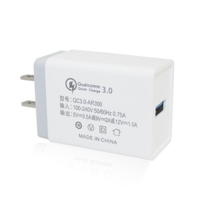 Minismile 18W Universal Travel QC3.0 Quick Charge Power Adapter Wall Charger US Plug