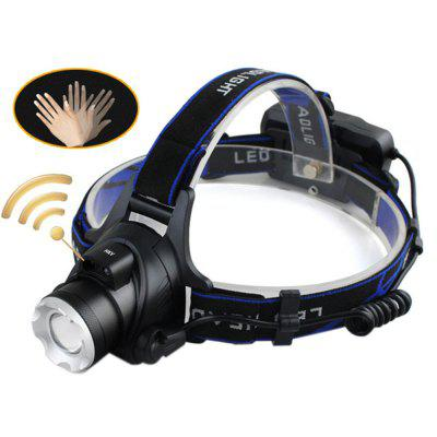 HKV LED Headlight Headlamp Induction XM-L T6 2000LM Zoom head Flashlight Adjustable Head lamp Front Light